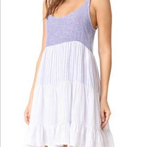 striped flowy linen dress